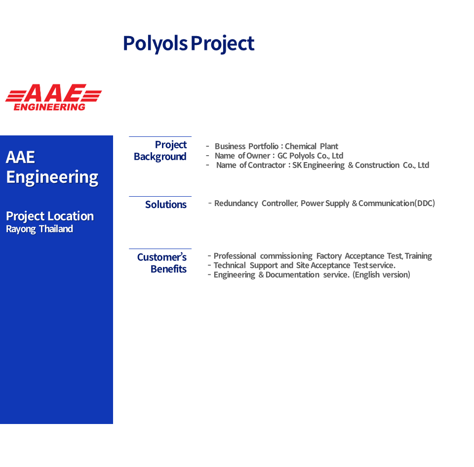 Polyols Project