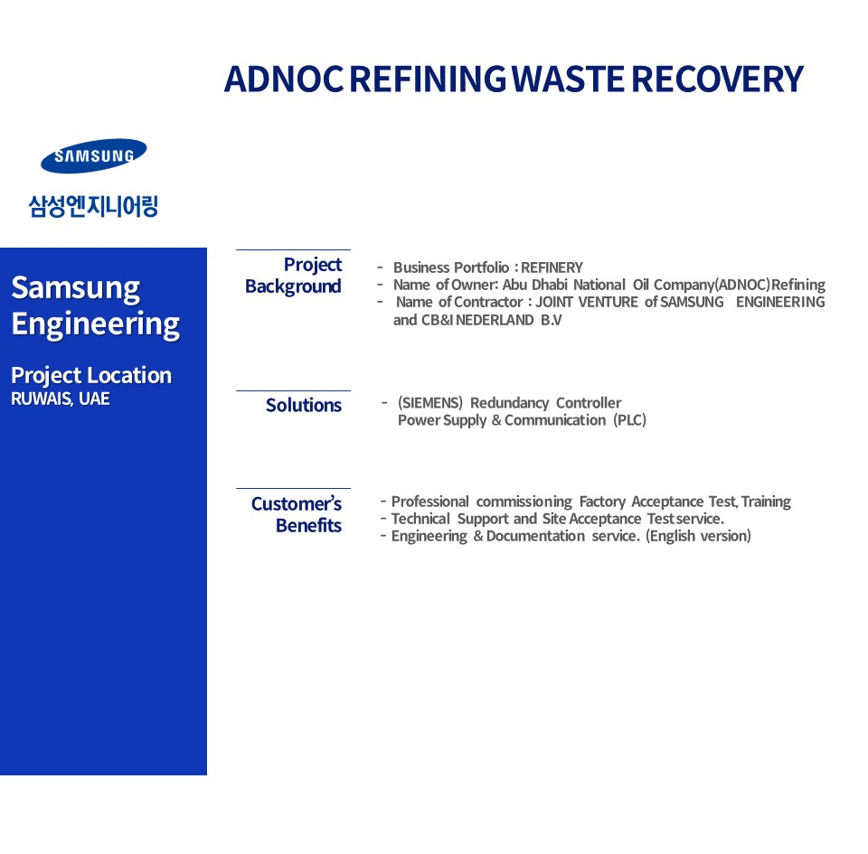 ADNOC REFINING WASTE HEAT RECOVERY PROJECT(WHRP)