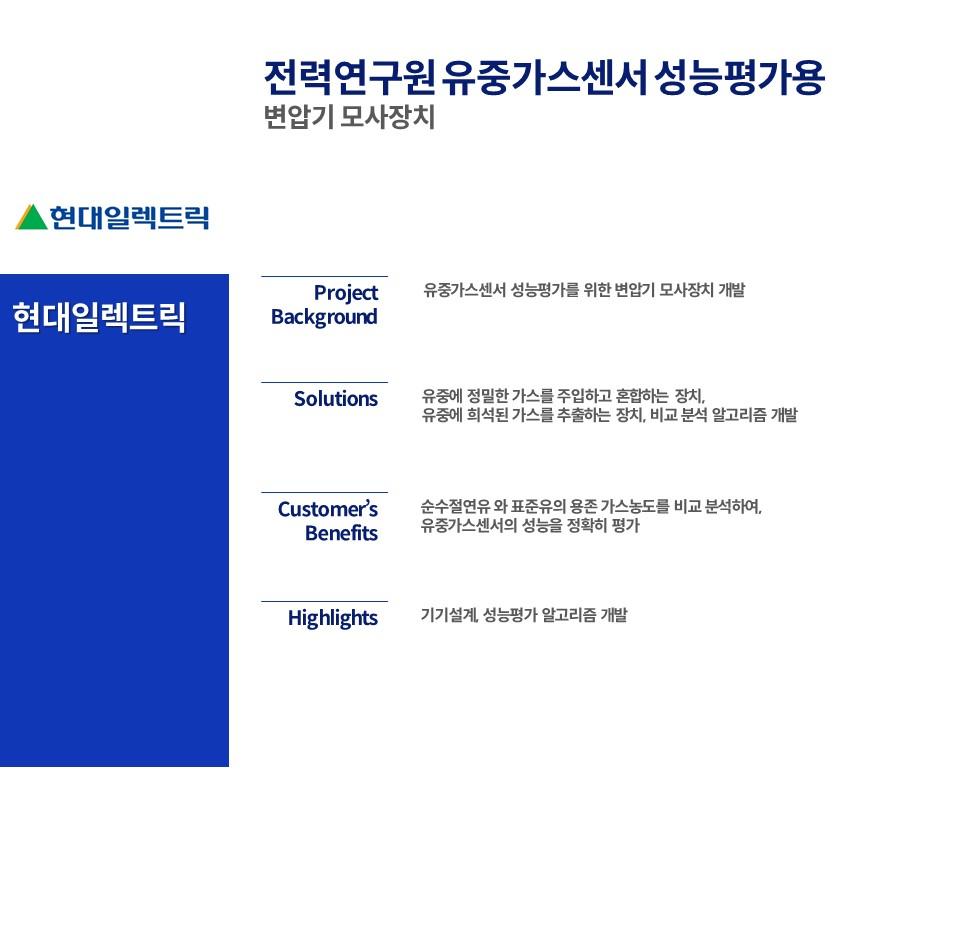 전력연구원 유중가스센서 성능평가용  변압기 모사장치